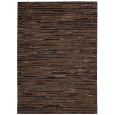 Kumari Hand-Woven Espresso Area Rug Rug Size: Rectangle 53 x 74