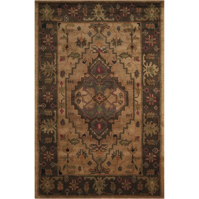 Tahoe Hand-Knotted Beige Area Rug Rug Size: 56 x 86