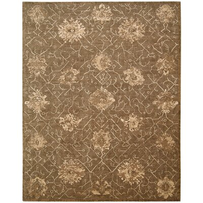 Silken Allure Chocolate Area Rug Rug Size: 86 x 116