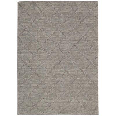 Greta Hand-Loomed Silver Area Rug Rug Size: 8 x 10
