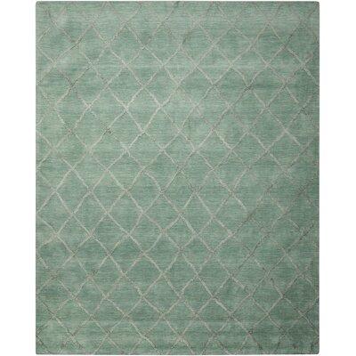 Vassalboro Hand-Loomed Aqua Area Rug Rug Size: 8 x 10