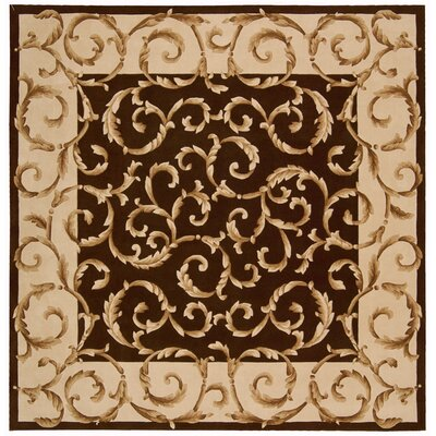 Brownlee Hand-Tufted Chocolate Area Rug Rug Size: Square 8'