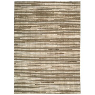 Kumari Hand-Woven Beige Area Rug Rug Size: Rectangle 53 x 74