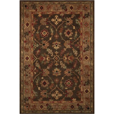 Tahoe Hand-Knotted Espresso Area Rug Rug Size: 39 x 59