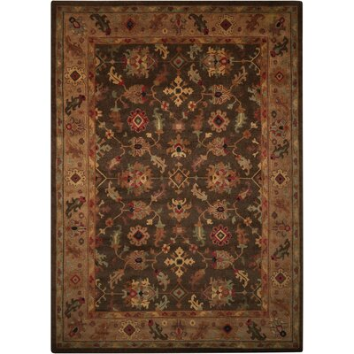 Tahoe Hand-Knotted Espresso Area Rug Rug Size: 86 x 116