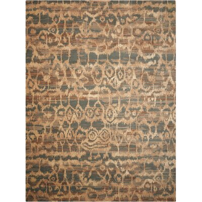 Samir Teal Area Rug Rug Size: 86 x 116