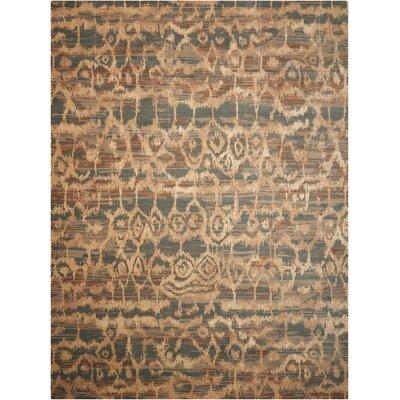 Silken Allure Teal Area Rug Rug Size: 56 x 8