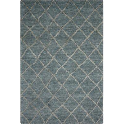 Greta Hand-Loomed Denim Area Rug Rug Size: 5 x 76