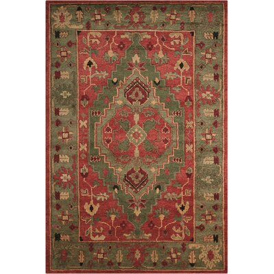 Tahoe Hand-Knotted Rust Area Rug Rug Size: 56 x 86