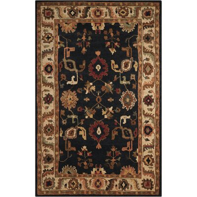 Tahoe Hand-Knotted Black Area Rug Rug Size: 79 x 99