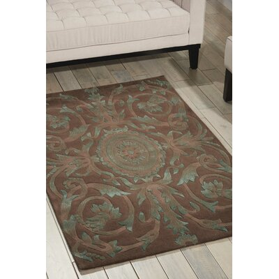 Zaniel Hand-Tufted Mocha Area Rug Rug Size: Rectangle 56 x 75