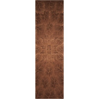Moda Hand-Tufted Tobacco Area Rug Rug Size: Runner 23 x 8
