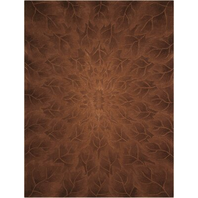Downing Hand-Tufted Tobacco Area Rug Rug Size: Rectangle 76 x 96