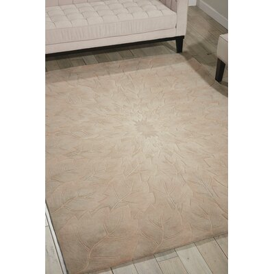 Downing Hand-Tufted Sand Area Rug Rug Size: Rectangle 8 x 11