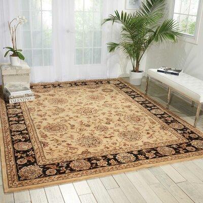 Nourison Hand Woven Wool Beige Indoor Area Rug Rug Size: 2'6