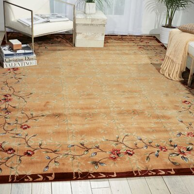 Tibbett Beige/Red Area Rug Rug Size: Rectangle 79 x 1010