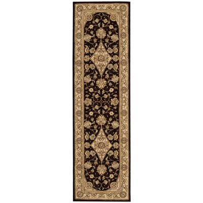 Nourison Tan/Black Area Rug Rug Size: Runner 23 x 8