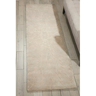 Downing Hand-Tufted Sand Area Rug Rug Size: Runner 23 x 8