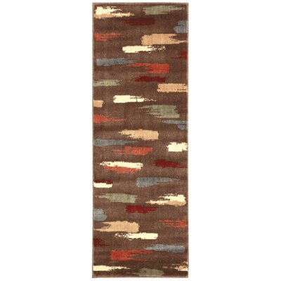 Expressions Chocolate Area Rug Rug Size: Runner 2 x 59