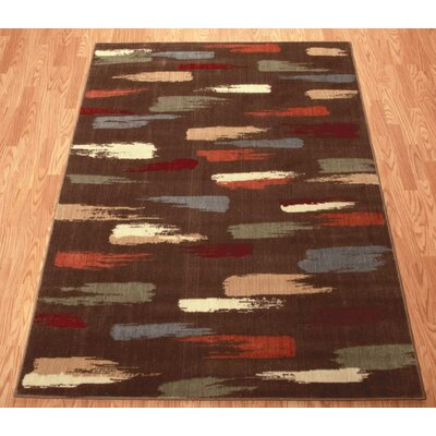 Mikki Chocolate Area Rug Rug Size: 53 x 75