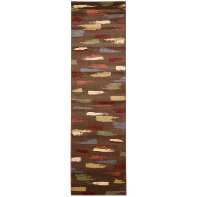 Mikki Chocolate Area Rug Rug Size: Runner 23 x 8