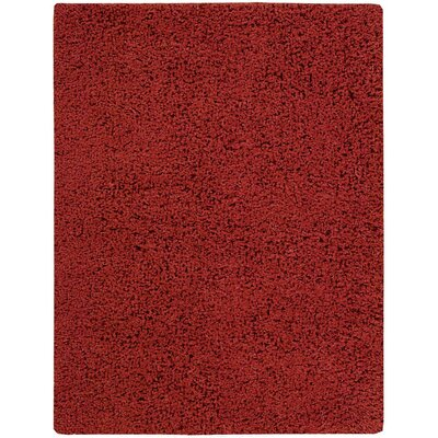 Zen Hand-Woven Rust Area Rug Rug Size: 56 x 75