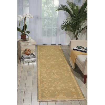 Genoveva Light Green Rug Rug Size: Runner 26 x 10