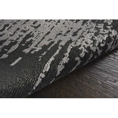 Stanton Black/Gray Area Rug Rug Size: Rectangle 99 x 139
