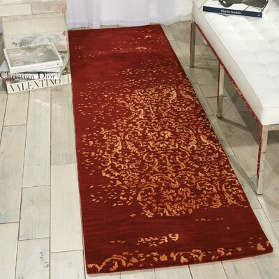 Opaline Hand-Tufted Fire Area Rug Rug Size: Runner 23 x 8