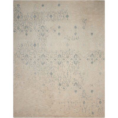 Opaline Hand-Tufted Beige Area Rug Rug Size: 39 x 59