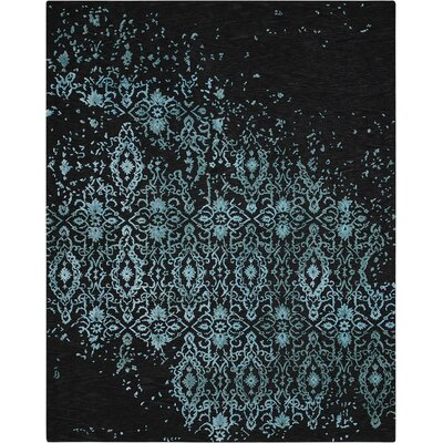 Opaline Hand-Tufted Midnight Blue Area Rug Rug Size: 86 x 116