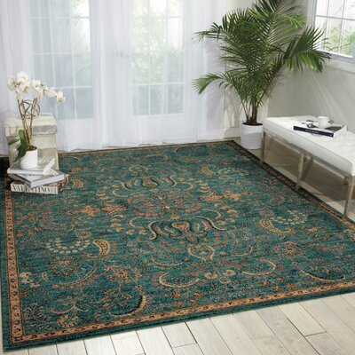 Maitland Blue Area Rug Rug Size: Rectangle 53 x 75
