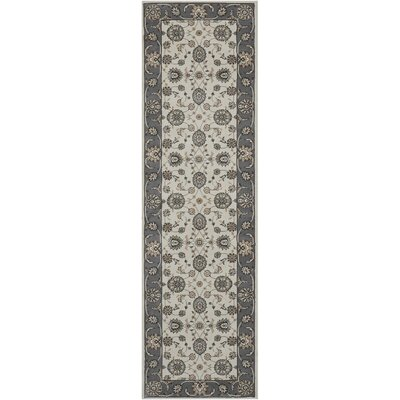 Persian Crown Ivory/Gray Area Rug Rug Size: Runner 22 x 76