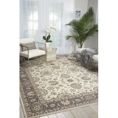 Apfel Ivory/Gray Area Rug Rug Size: Rectangle 710 x 106