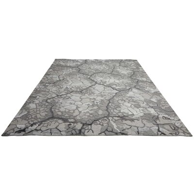 Limerick Hand-Knotted Gray Area Rug Rug Size: Rectangle 56 x 75