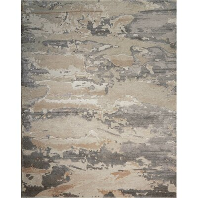 Limerick Hand-Knotted Beige Area Rug Rug Size: Rectangle 56 x 75