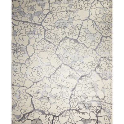 Limerick Hand-Knotted Beige Abstract Area Rug Rug Size: Rectangle 99 x 139