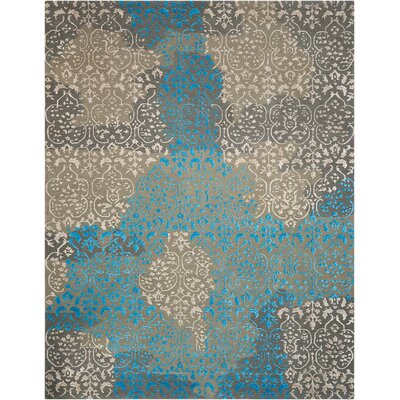 Jayson Highwood Hand-Tufted Charcoal Area Rug Rug Size: Rectangle 99 x 139