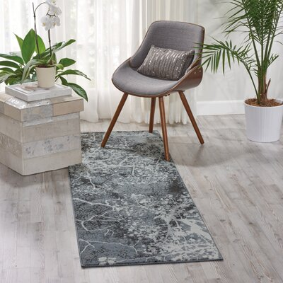 Maxell Gray Area Rug Rug Size: Runner 22 x 76