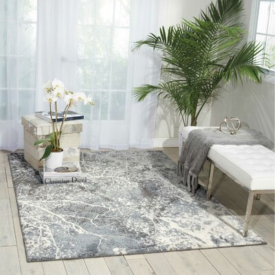 Maxell Gray Area Rug Rug Size: 93 x 129
