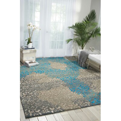 Jayson Highwood Hand-Tufted Charcoal Area Rug Rug Size: Rectangle 39 x 59