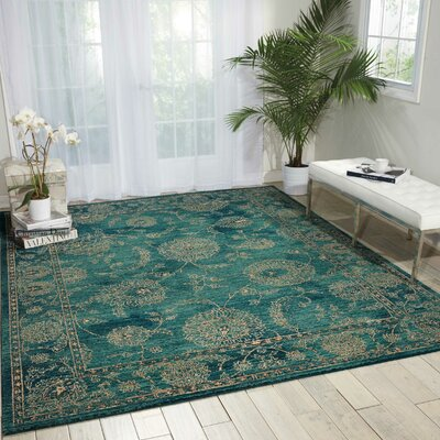 Mailus Blue Area Rug Rug Size: Rectangle 66 x 95