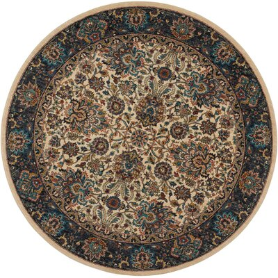 Madrid Brown Area Rug Rug Size: Round 75