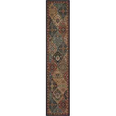 Multicolor Beige Rug Rug Size: Runner 23 x 11