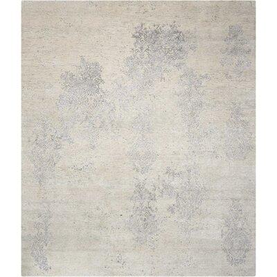 Silk Shadows Hand-Woven Ivory Area Rug Rug Size: 99 x 139