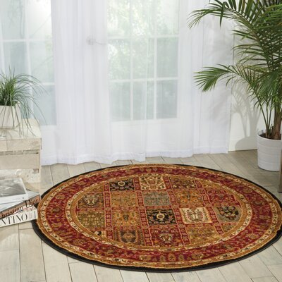 Lukeson Multicolor Rug Rug Size: Round 53 x 53