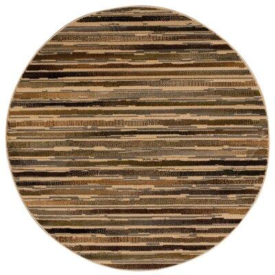 Fitch Beige Rug Rug Size: Round 53 x 53