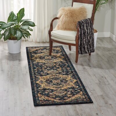 Black Area Rug Rug Size: Runner 23 x 8