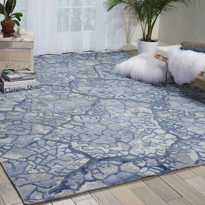 Limerick Hand-Knotted Blue Area Rug Rug Size: Rectangle 79 x 99