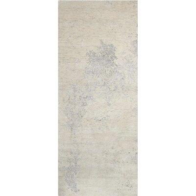 Silk Shadows Hand-Woven Ivory Area Rug Rug Size: Runner 23 x 8